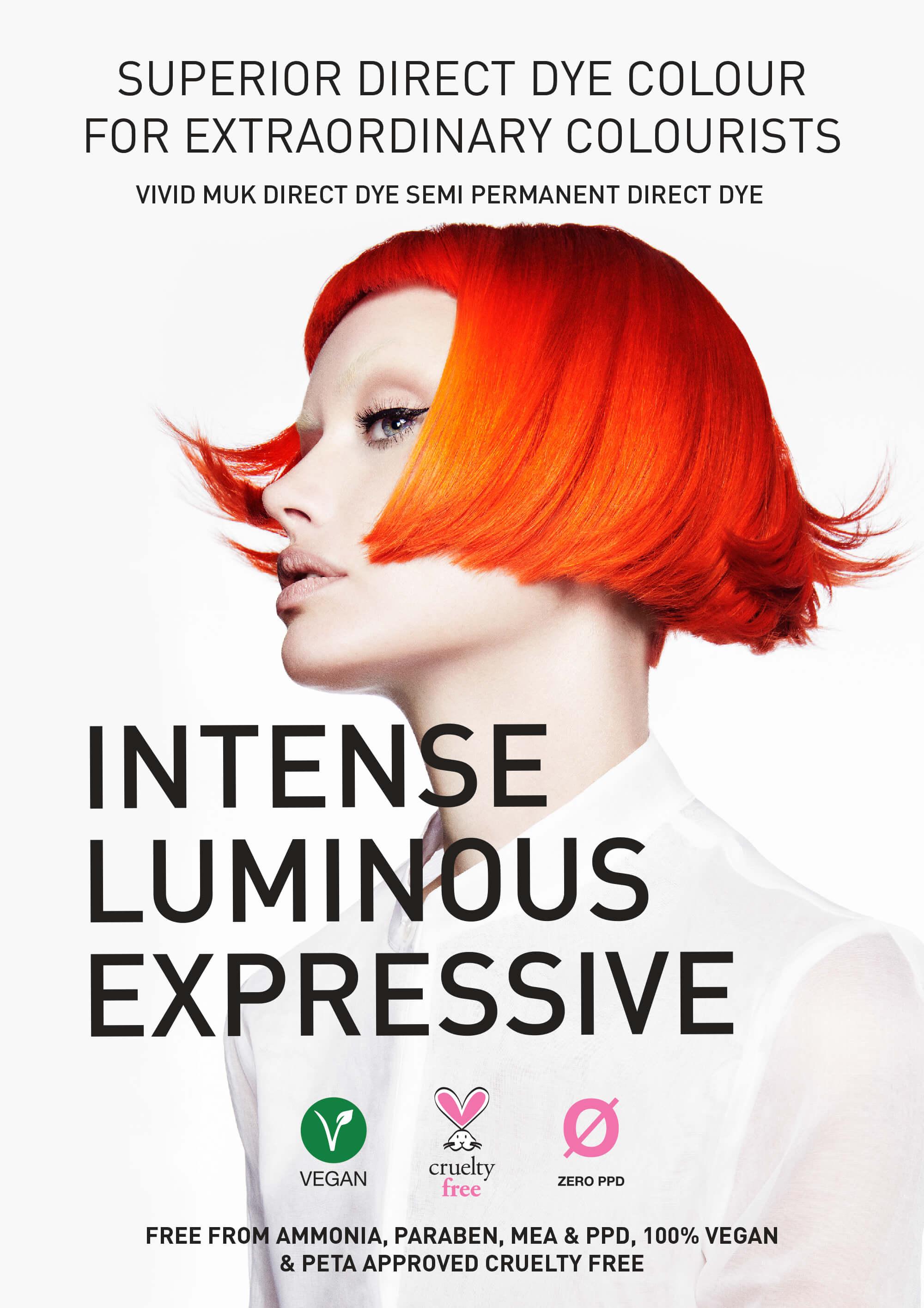 Vivid muk Direct Dye Colour - muk haircare